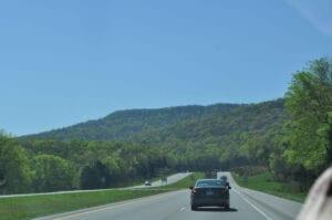 Naturen ned gennem Tennessee var helt fantastisk :-)