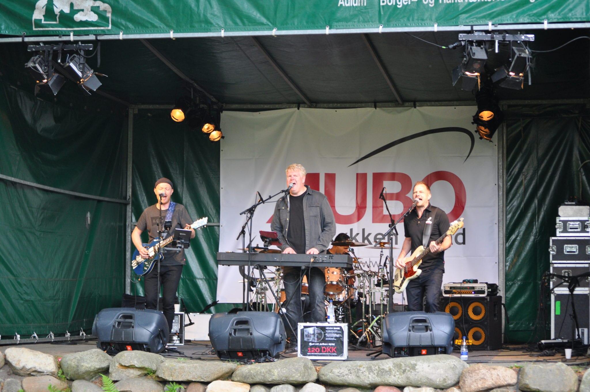 Henrik Bank band spillede til Rock i Aulum - 3. juni 2017